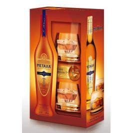 Metaxa 7* 0,7l 40% + 2x sklo GB Brandy