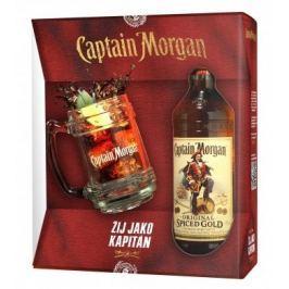 Captain Morgan Spiced Gold + korbel 0,7l 35% GB